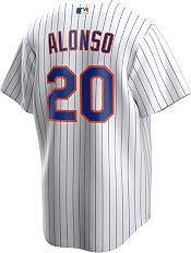 Nike Men's Replica New York Mets Pete Alonso #20 White Cool Base Jersey product image