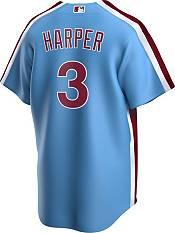 Nike Men's Replica Philadelphia Phillies Bryce Harper #3 Blue Cool Base Jersey product image