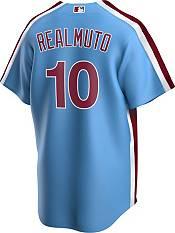Nike Men's Replica Philadelphia Phillies J.T. Realmuto #10 Blue Cool Base Jersey product image
