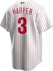 Nike Men's Replica Philadelphia Phillies Bryce Harper #3 White Cool Base Jersey product image