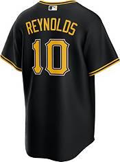 Nike Men's Replica Pittsburgh Pirates Bryan Reynolds #10 Cool Base Black Jersey product image