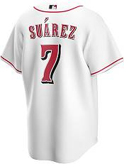 Nike Men's Replica Cincinnati Reds Eugenio Suarez #7 Cool Base White Jersey product image