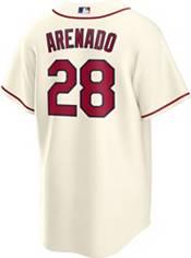 Nike Men's St. Louis Cardinals Nolan Arenado #28 Cream Replica Cool Base Jersey product image