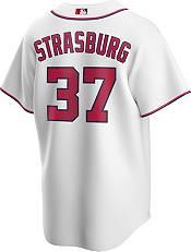 Nike Men's Replica Washington Nationals Stephen Strasburg #37 White Cool Base Jersey product image