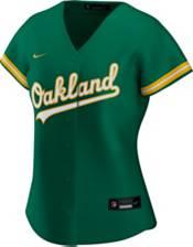 Nike Women's Replica Oakland Athletics Khris Davis #2 Cool Base Green Jersey product image