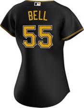 Nike Women's Replica Pittsburgh Pirates Josh Bell #55 Cool Base Black Jersey product image