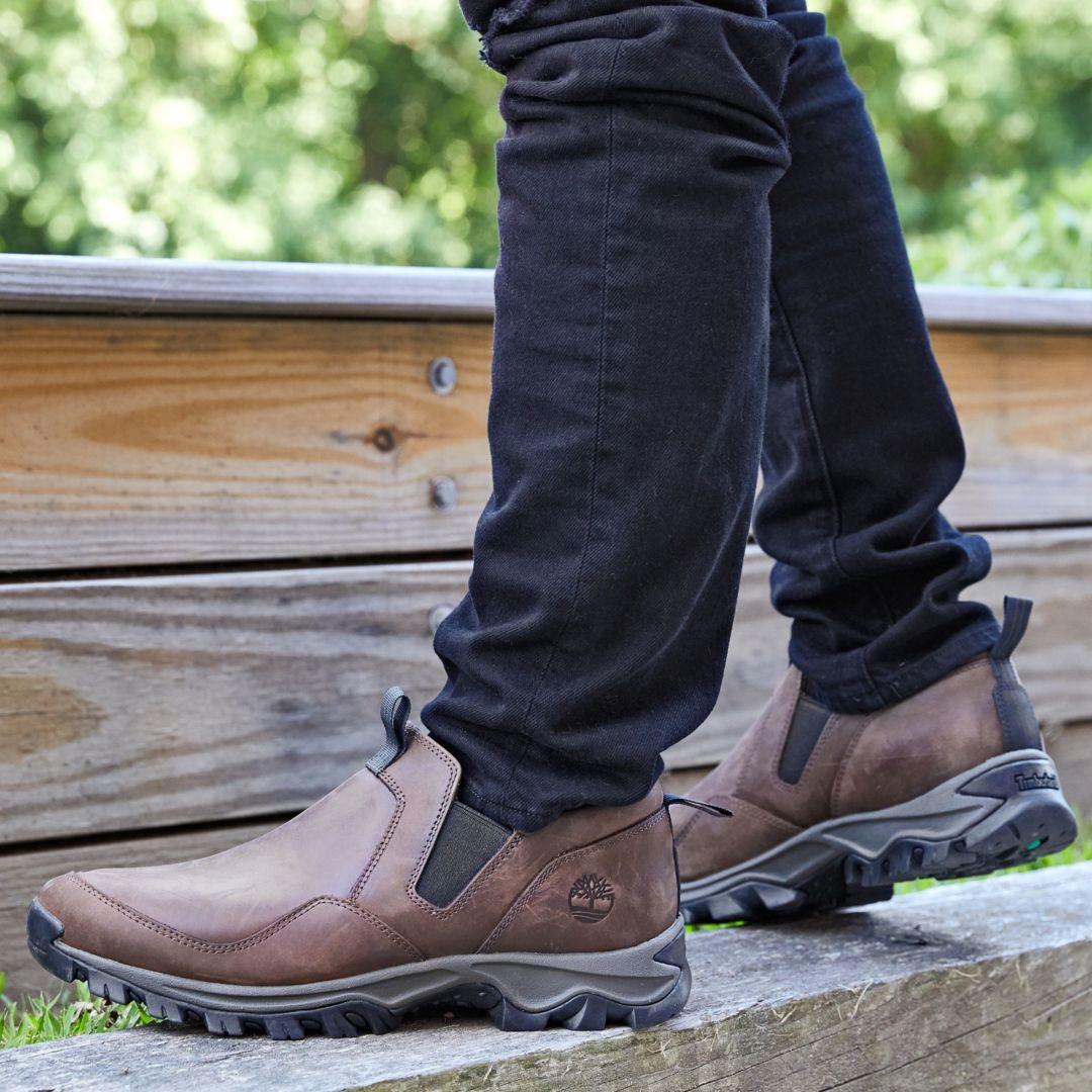 Men's Brown Mt. Maddsen Slip on Waterproof Casual Boots