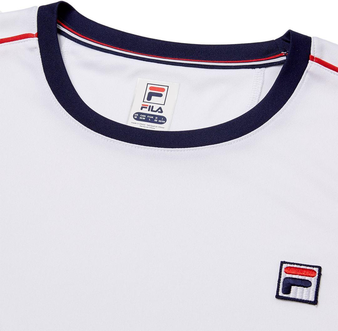 FILA Men's Heritage Piped Crew Tennis T Shirt
