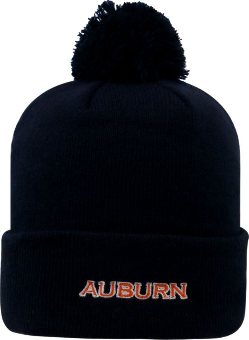 Top of the World Men s Auburn Tigers Blue Pom Knit Beanie  ced883742308