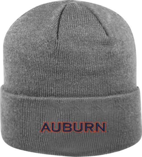 Top of the World Men s Auburn Tigers Grey Cuff Knit Beanie  d42ef8971f18