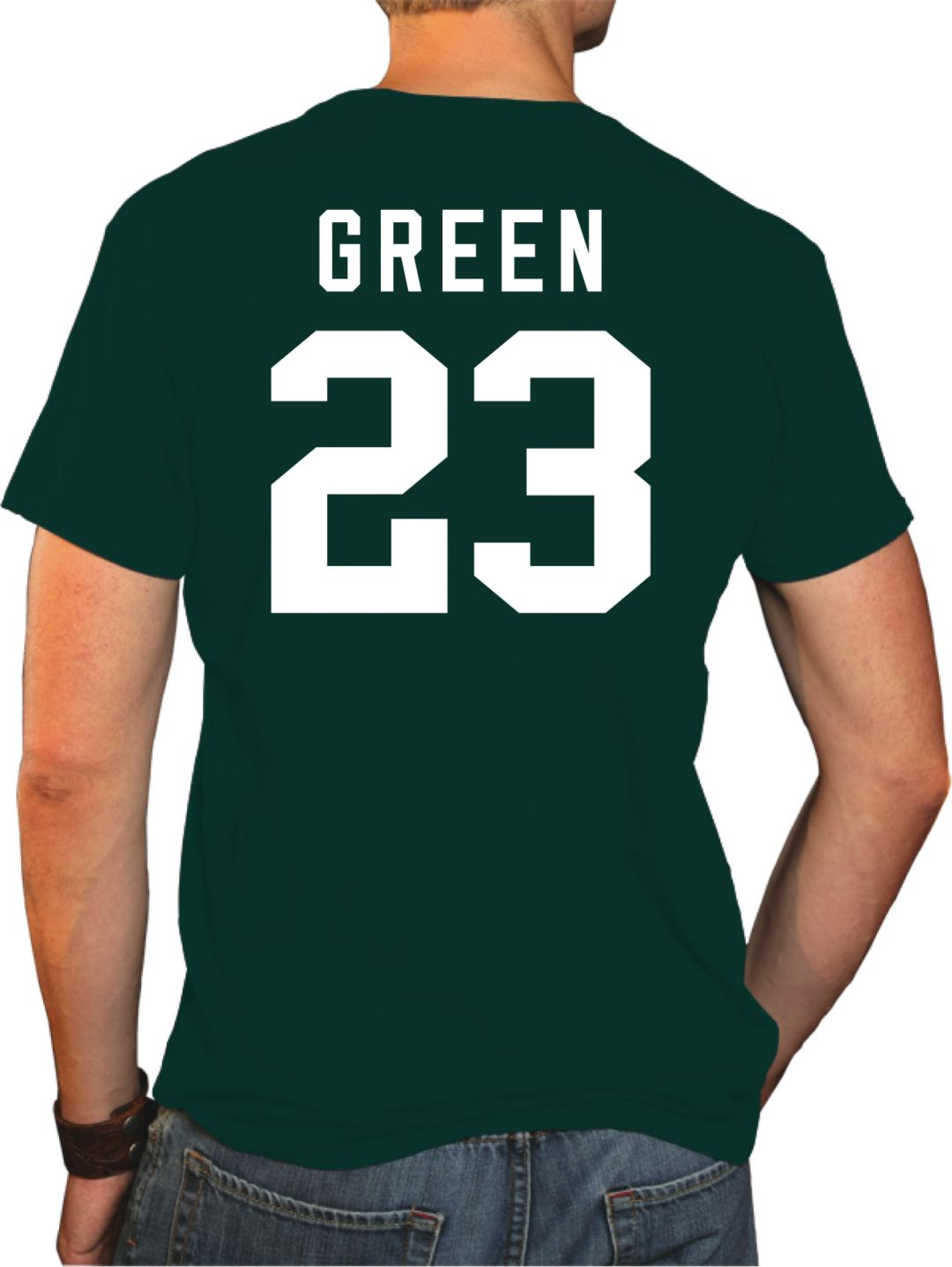 brand new 49b46 3d32d Original Retro Brand Men's Michigan State Spartans Draymond Green #23 Green  Basketball Jersey T-Shirt