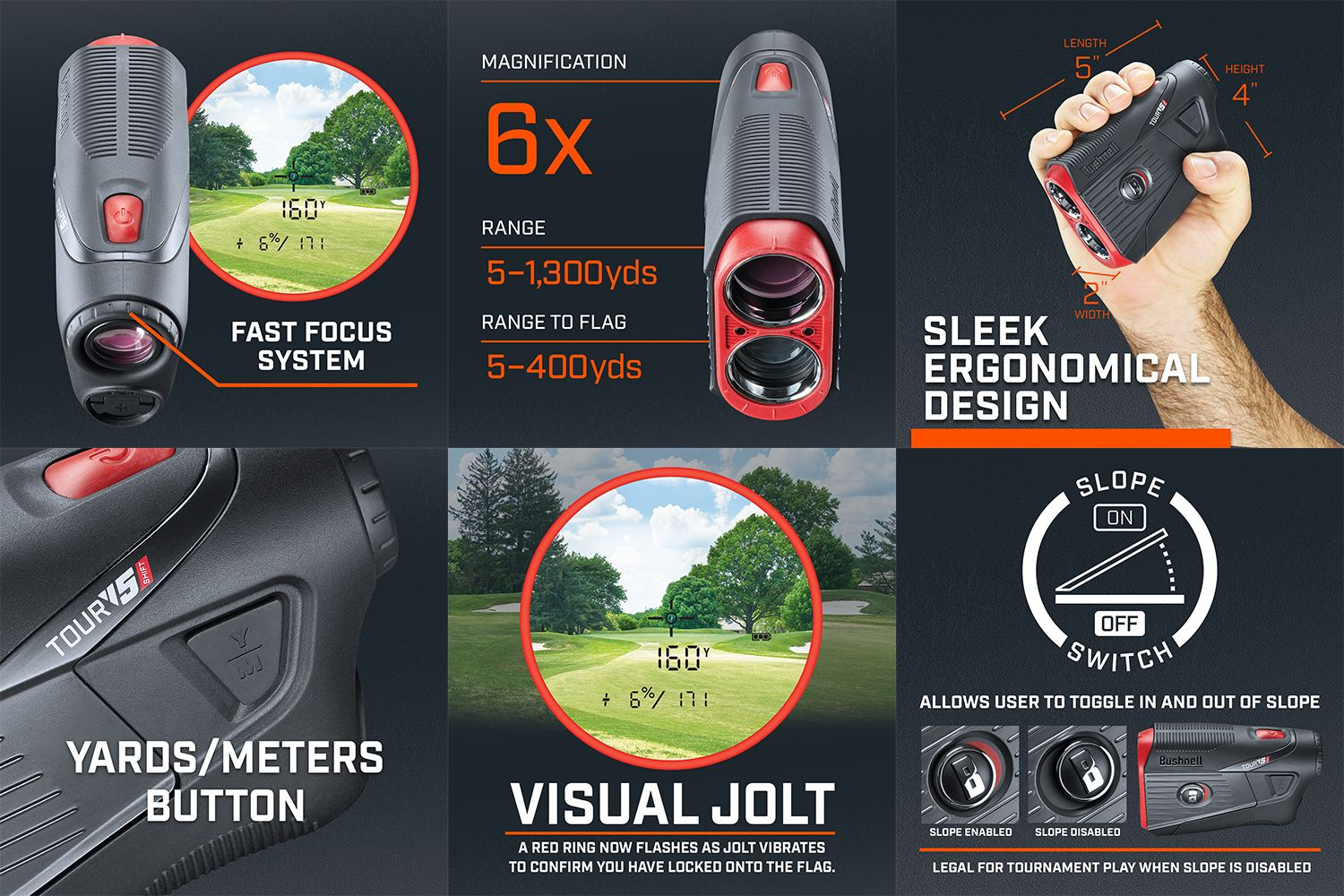 Bushnell Tour V5 Shift Patriot Laser Rangefinder Pack | Golf Galaxy