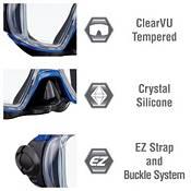 TUSA Sport Adult Visio Tri-Ex Black Series Snorkeling Combo product image