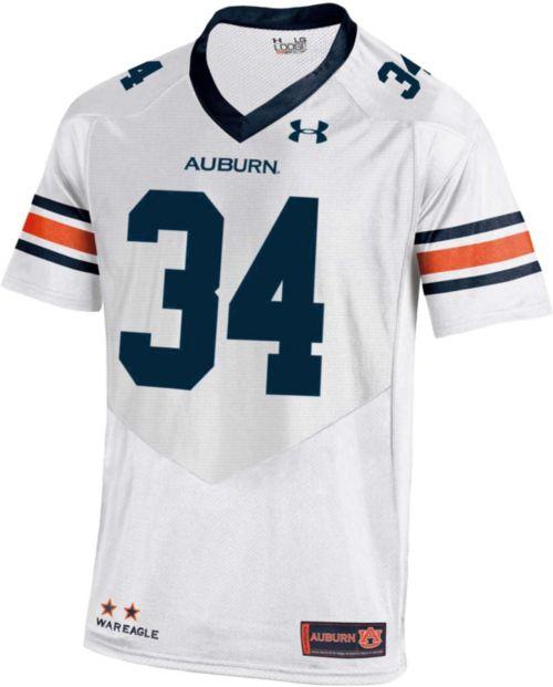 Under Armour Men s Auburn Tigers White  34 Replica Football Jersey ... 03c4d6774