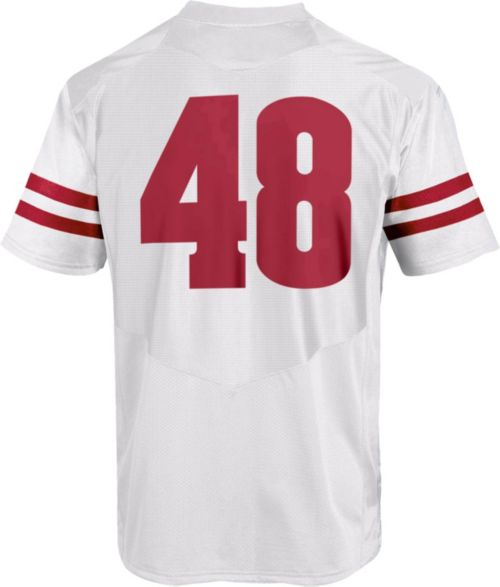Under Armour Men s Wisconsin Badgers  48 Replica Football White Jersey.  noImageFound. Previous. 1. 2. 3 753478b97