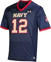 Under Armour Men's Navy Midshipmen  #12 Navy 'Semper Fi' Replica Football Jersey product image