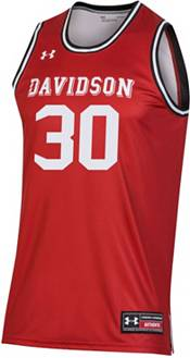 Under Armour Men's Stephen Curry Davidson Wildcats #30 Red Replica Basketball Jersey product image