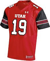 Under Armour Men's Utah Utes #19 Crimson Replica Football Jersey product image