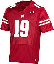 Under Armour Youth Wisconsin Badgers #19 Red Replica Football Jersey product image