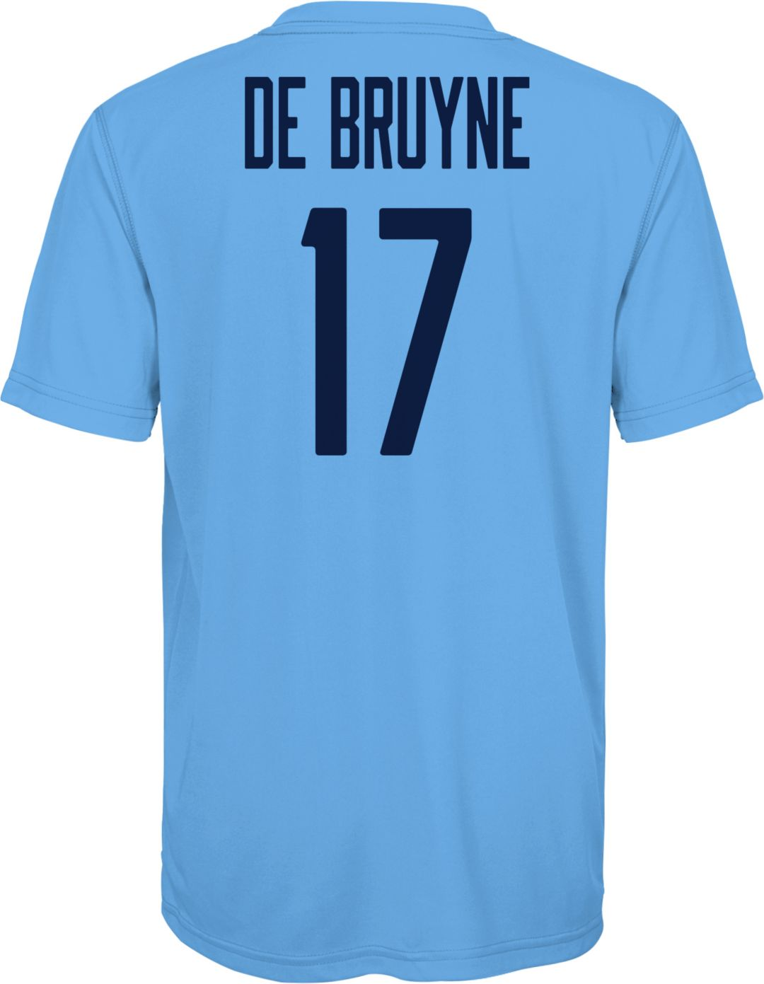 online store 98cfd fe1ae Outerstuff Youth Manchester City Kevin De Bruyne #17 Blue Player Tee
