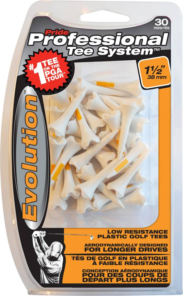 Pride PTS Evolution 1 1/2'' White Golf Tees - 30 Pack product image