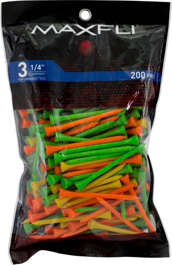 Maxfli 3.25'' Fluorescent Golf Tees – 200-Pack product image