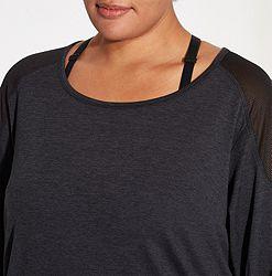 e9e0de3d Reebok Women's Plus Size 24/7 Jersey Long Sleeve Shirt