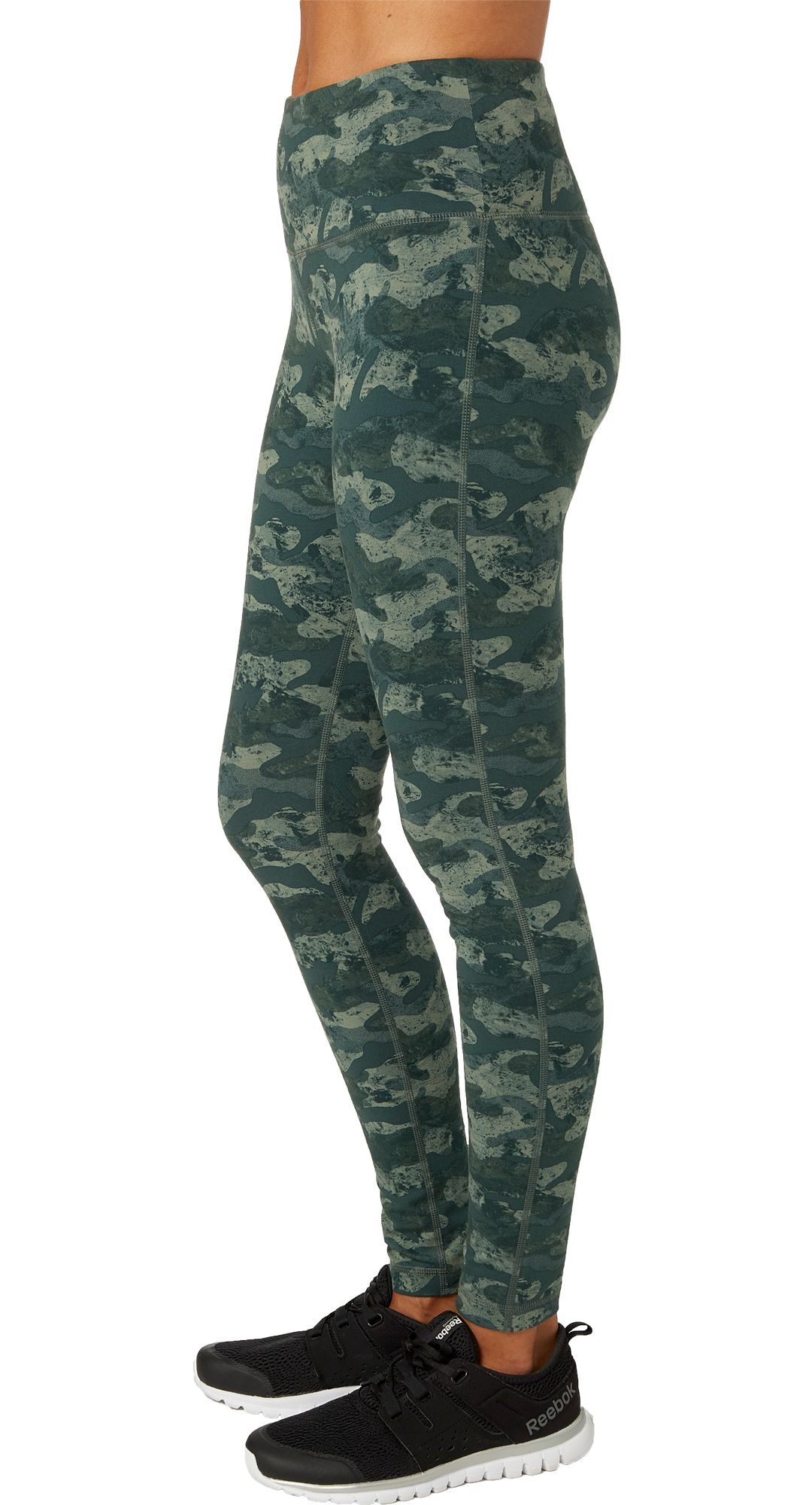 cheap vast selection best value Reebok Women's High Waisted Printed Stretch Cotton Leggings