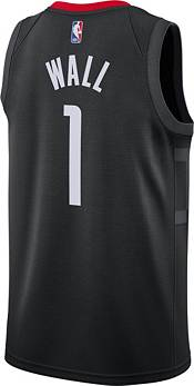 Jordan Men's Houston Rockets John Wall #1 2020-21 Dri-FIT Statement Swingman Black Jersey product image