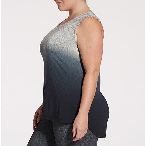 385fb05dd90 CALIA by Carrie Underwood Women s Plus Size Everyday Heather Dip Dye ...