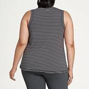 CALIA by Carrie Underwood Women's Plus Size Striped Everyday Muscle Tank Top product image