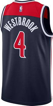 Nike Men's Washington Wizards Russell Westbrook Navy Statement Jersey product image