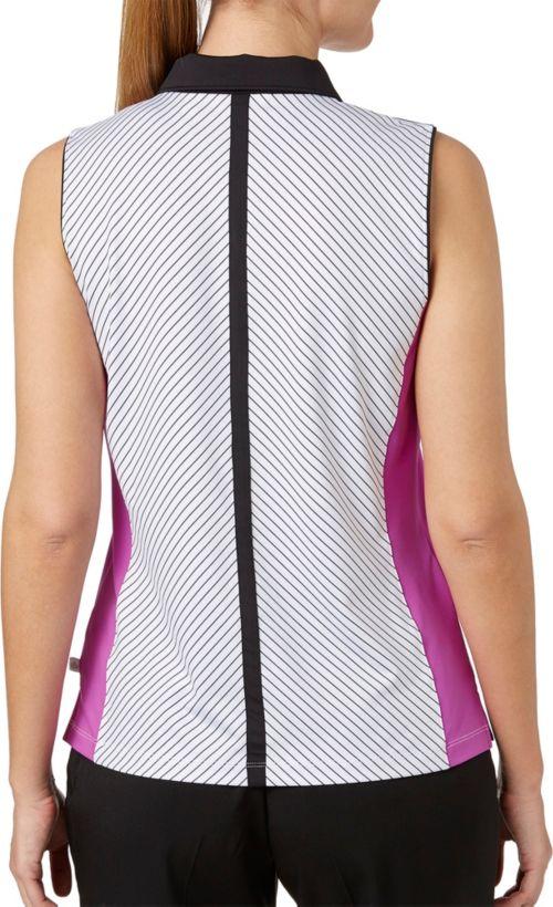 99dae60a055 Lady Hagen Women s Twilight Collection Stripe Printed Sleeveless Golf Polo.  noImageFound. Previous. 1. 2