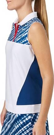 Lady Hagen Women's Americana Tie Dye Printed Sleeveless Golf Polo product image