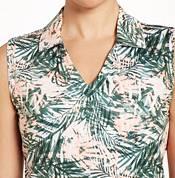 Lady Hagen Women's Tropical Print Sleeveless Golf Polo product image