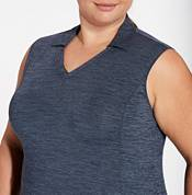 Lady Hagen Women's Spacedye Sleeveless Golf Polo - Extended Sizes product image