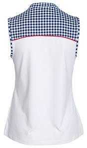 Lady Hagen Women's USA Gingham Sleeveless Golf Polo product image