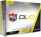 Wilson Staff Duo Yellow Personalized Golf Balls product image