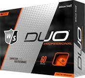 Wilson Staff Duo Professional Matte Orange Personalized Golf Balls product image