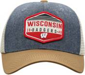 Top of the World Men's Wisconsin Badgers Grey/Brown/White Wild Adjustable Hat product image