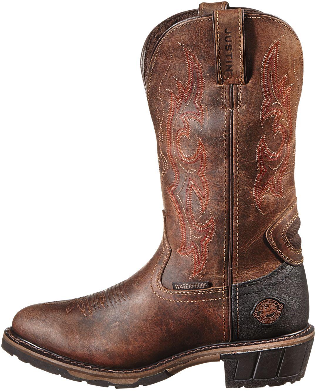 Rugged Utah Hybred Western Work Boots