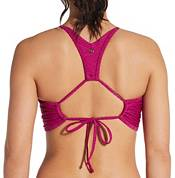 CALIA by Carrie Underwood Women's High Neck Ladder Trim Swim Top product image