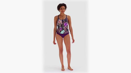 f8265e3239761 CALIA by Carrie Underwood Women's Pattern 2-in-1 Tankini   Fitness ...
