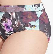 CALIA by Carrie Underwood Women's Plus Size Wide Banded Printed Bikini Bottoms product image