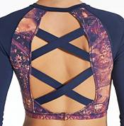 CALIA by Carrie Underwood Women's Cropped Crossback Rash Guard product image