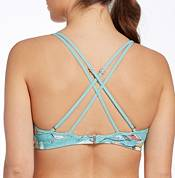 CALIA by Carrie Underwood Women's Ruched Trim Printed Bikini Top product image