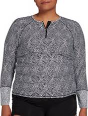 CALIA by Carrie Underwood Women's Zip Long Sleeve Rashguard (Regular and Plus) product image