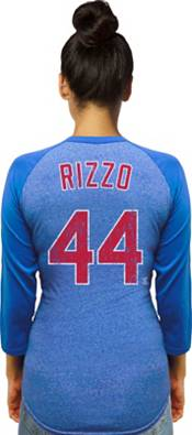 Majestic Threads Women's Chicago Cubs Anthony Rizzo #44 Raglan Royal Three-Quarter Sleeve Shirt product image