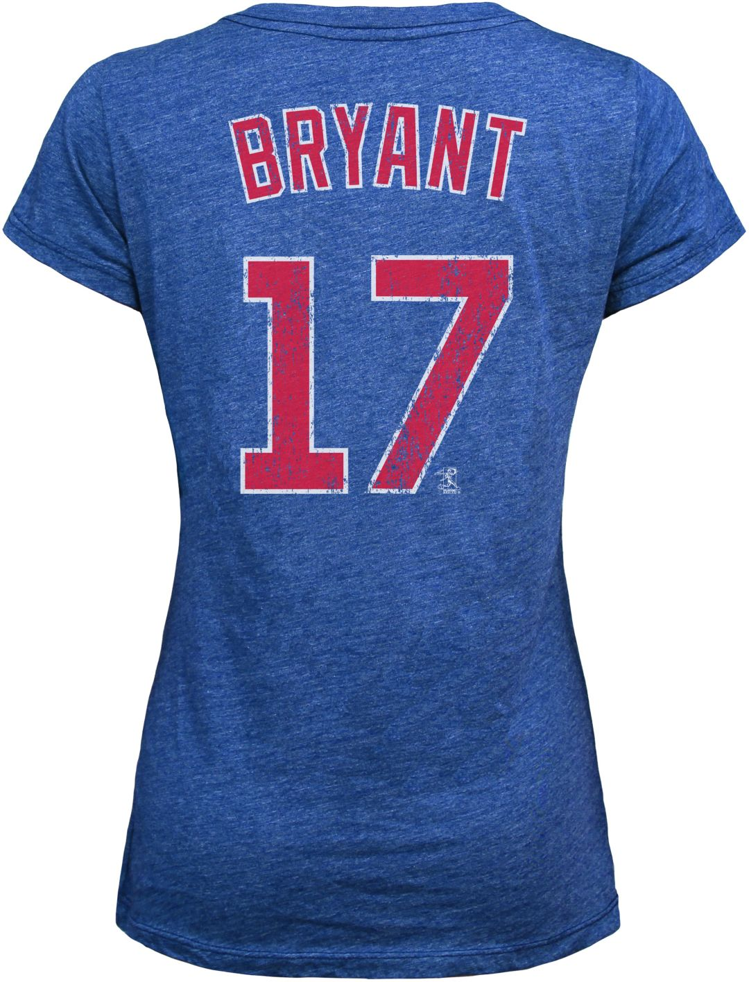 quality design 1d256 5fb20 Majestic Threads Women's Chicago Cubs Kris Bryant Royal V-Neck T-Shirt