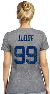 Majestic Threads Women's New York Yankees Aaron Judge Grey V-Neck T-Shirt product image